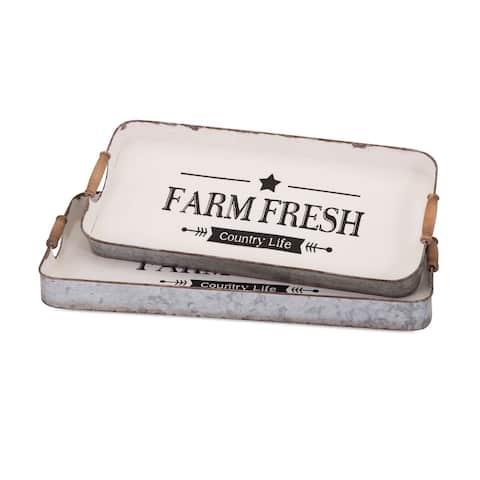 Farm Fresh Decorative Trays (Set of 2)