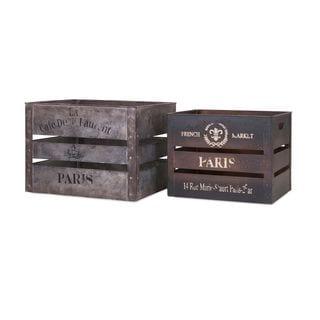 Paris Metal Crates (Set of 2)