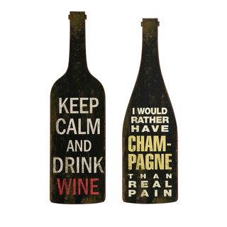 Lasalle Wine and Champagne Wall Decor (Set of 2)