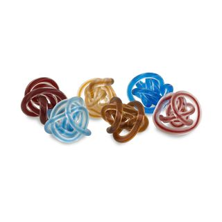 Glass Rope Knots - Set of 6