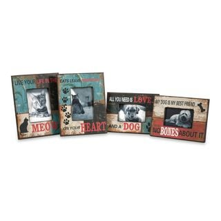 Dog and Cat Photo Frames - Set of 4