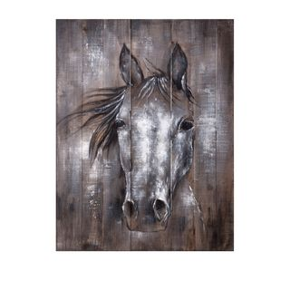 Whistle Framed Oil Painting - Brown