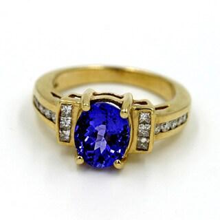 14k Yellow Gold 1/2ct TDW Diamond and Tanzanite Fashion Ring (G-H, I1)