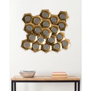 Safavieh Golden Coral Antique Gold 26 x 29-inch Mirror