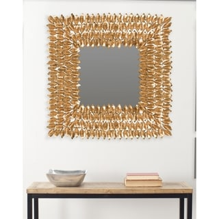 Safavieh Borghese Antique Gold 25-inch Square Mirror