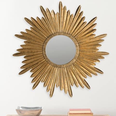 "Safavieh Josephine Sunburst Antique Gold 34-inch Decorative Mirror - 33.5"" x 33.5"" x 1"""