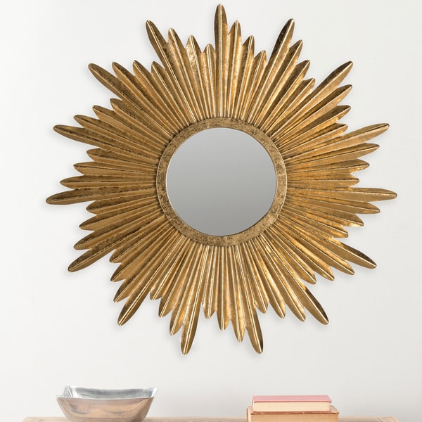 gold sunburst mirror. Safavieh Josephine Antique Gold Sunburst Mirror