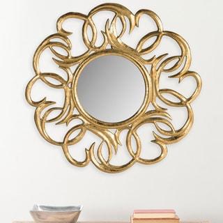 Safavieh Cecile Art Nouveau Gold Scrolls 28-inch Mirror