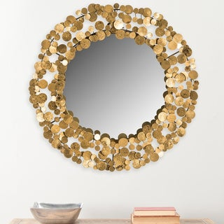 Safavieh Jocelyn Layered Coin Gold 26-inch Mirror