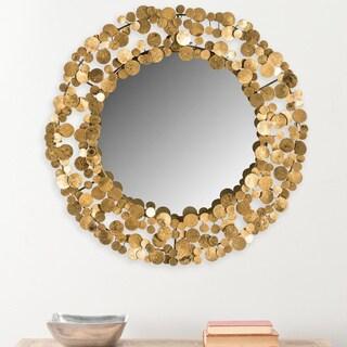 Safavieh Jocelyn Layered Coin Gold 26-inch Mirror