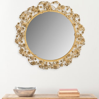 Safavieh Flora Butterfly Antique Brass 24.75-inch Mirror