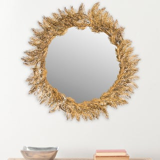 Safavieh Shana Feather Antique Brass Mirror