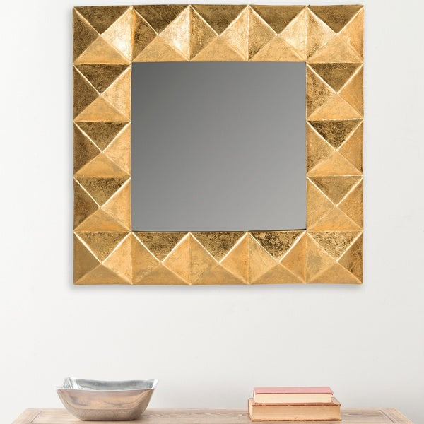 Safavieh Petra Pyramid Gold 30.5-inch Mirror