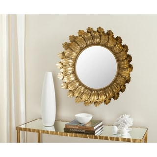 Safavieh Paradox Leaf Gold 30-inch Mirror