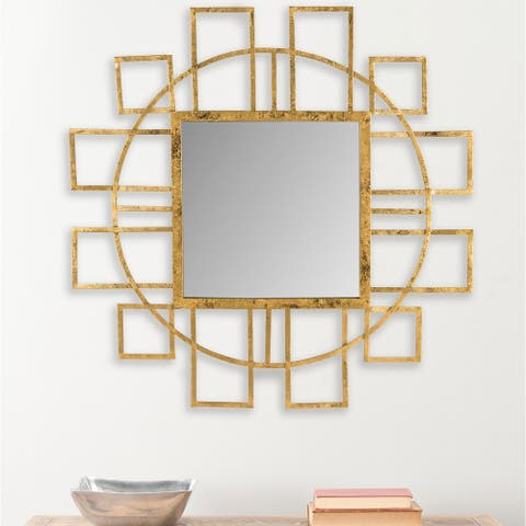 "Safavieh Matrix Gold 35-inch Decorative Mirror - 35"" x 35"" x 1"""