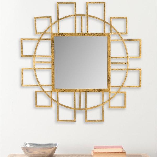 Safavieh Matrix Gold Geometric 35-inch Mirror