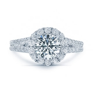 Matthew Ryan Design 18k White Gold 1 3/4ct TDW Diamond Halo Engagement Ring (F-G, SI1-SI2)