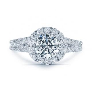 Matthew Ryan Design 18k White Gold 1 3/4ct TDW Diamond Halo Engagement Ring (F-G, SI1-SI2)