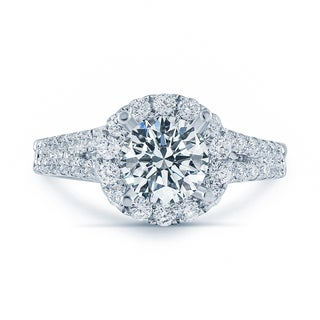 Matthew Ryan Design 18k White Gold 1 3/4ct TDW Diamond Halo Engagement Ring (More options available)