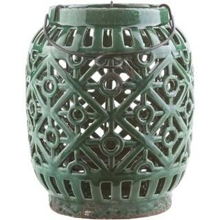 "Lucian Ceramic Medium Size Decorative Lantern - 9""h x 7.5"" x 7.5""w"