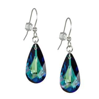 Jewelry by Dawn Bermuda Blue Swarovski Element Crystal Teardrop Sterling Silver Earrings|https://ak1.ostkcdn.com/images/products/11775016/P18687177.jpg?impolicy=medium