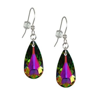 Jewelry by Dawn Medium Vitrail Swarovski Crystal Teardrop Sterling Silver Earrings