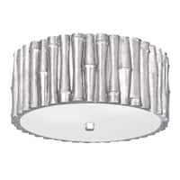 Crystorama Libby Langdon Masefield Collection 2-light Antique Silver Flush Mount