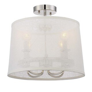 Crystorama Libby Langdon Culver Collection 4-light Polished Nickel Flush Mount