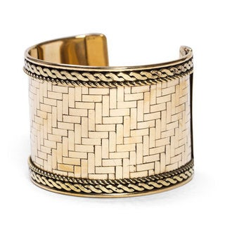 Handmade Gold Weave Cuff (India)