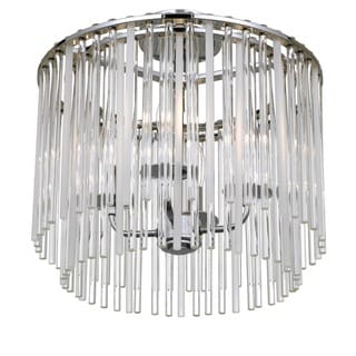 Crystorama Bleeker Collection 4-light Chrome Flush Mount