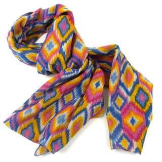 Handmade Multicolored Kilim Cotton Scarf (India)