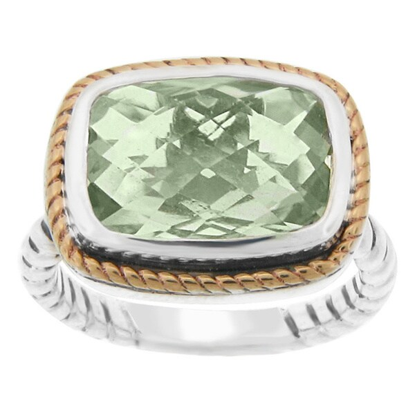 meredith leigh 14k yellow gold and sterling silver green