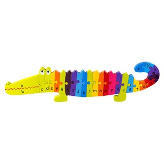 Orange Tree Toys Wooden Alphabet Crocodile Puzzle