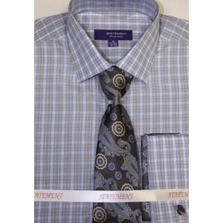 SH-818 Blue Shirt, Tie and Hankie Set
