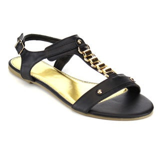 Beston Studded T-Strap Sandals