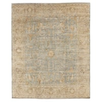 Exquisite Rugs Sultanabad Light Green / Beige New Zealand Wool Rug - 8' x 10'