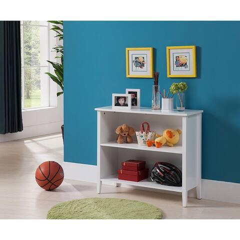 K&B 2-tier White Bookcase