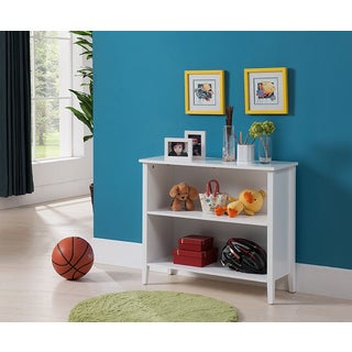K&B 2-tier White Bookcase