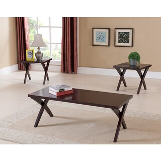 K&B Cocktail Table and 2 End Tables (Set of 3)