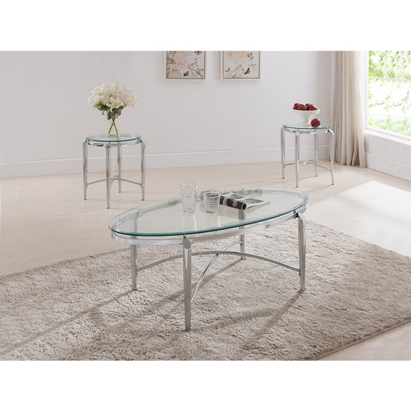 Shop K B Cocktail And 2 End Tables Free Shipping Today Overstock