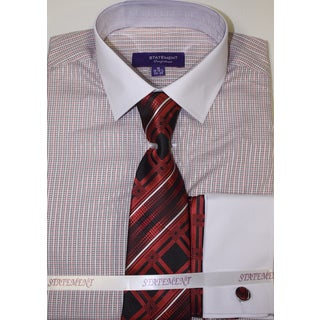 Statement Red Shirt, Tie and Hankie Set (2 options available)