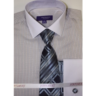Men's Blue Shirt, Tie and Hankie Set