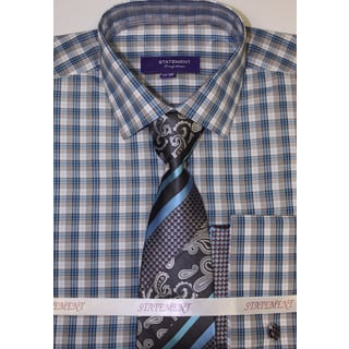 Men's Turquoise Shirt, Tie and Hankie Set