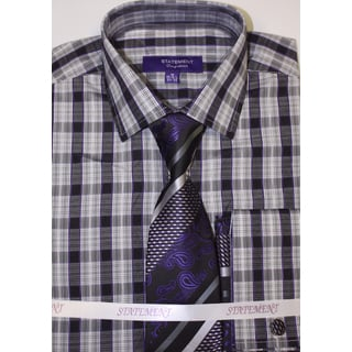 SH-823 Purple Shirt, Tie and Hankie Set