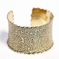 Gold Impression Cuff