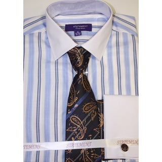 Men's Sky Blue Shirt, Tie and Hankie Set