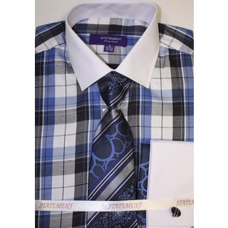 SH-806 Blue Shirt, Tie and Hankie