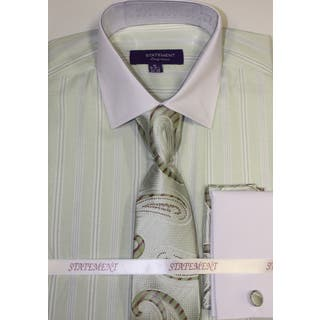 Statement Mint Shirt, Tie and Hankie Set|https://ak1.ostkcdn.com/images/products/11775304/P18687379.jpg?impolicy=medium