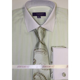Statement Mint Shirt, Tie and Hankie Set
