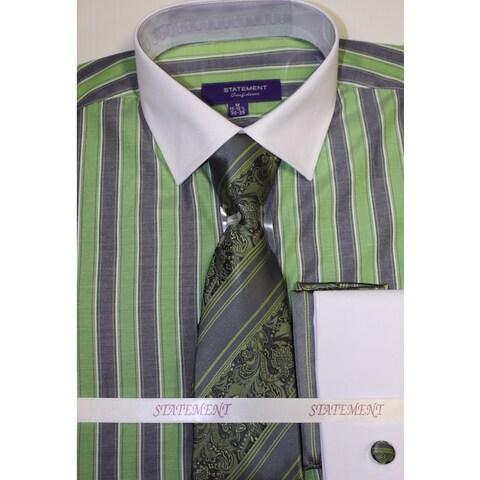 Statement Green Shirt, Tie and Hankie Set